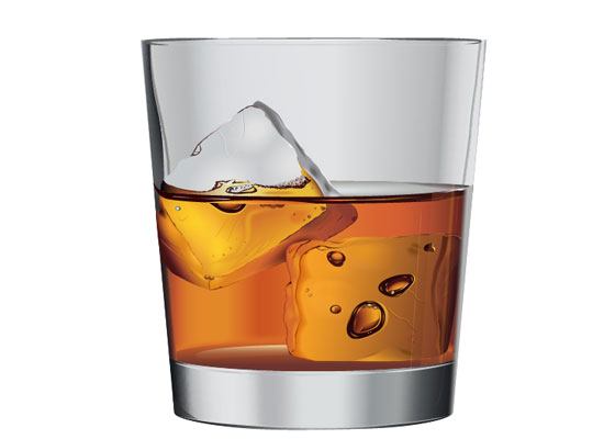 Create Vector Whiskey on the Rocks
