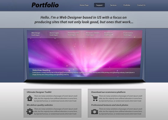 How to Create a 3D Portfolio Layout Design Tutorial