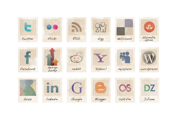 36-free-vintage-social-icons Free Icon Sets to Bookmark