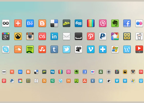 41-Social-Media-Icons Free Icon Sets to Bookmark