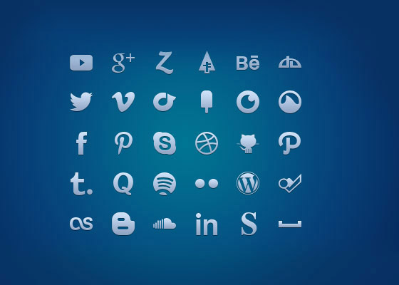Multi-Format-Social-Media-Glyph-Set Free Icon Sets to Bookmark