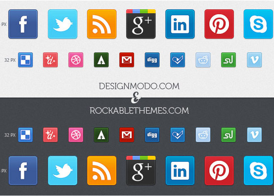 Sociality Free Icon Sets to Bookmark
