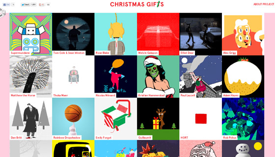 christmasgifs Grid based Awesome Website Designs