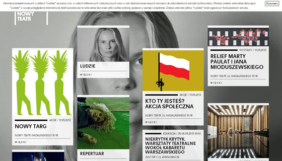 nowyteatr Grid based Awesome Website Designs