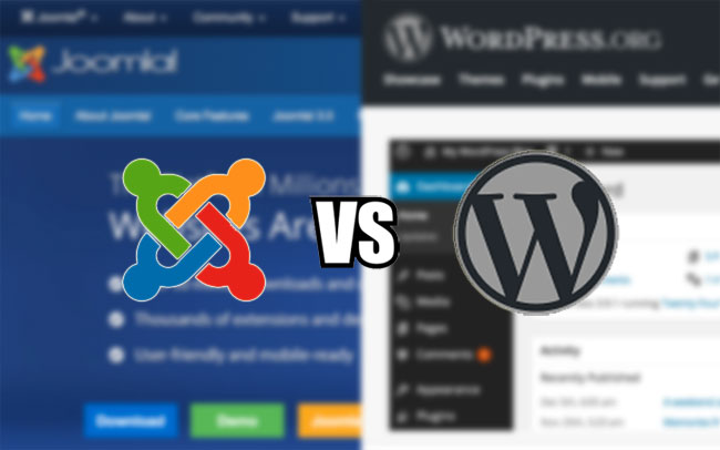 Top 10 differences b/w wordpress and joomla