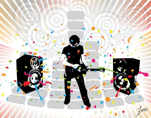 CMBII12_thumb 15+ Creative Music Background Illustrations