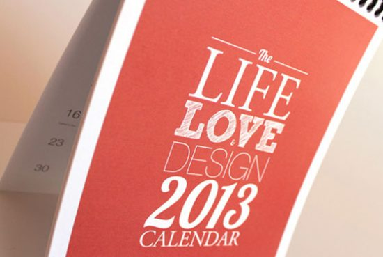 Calendar Typography Life : Unique calendar designs web mantra