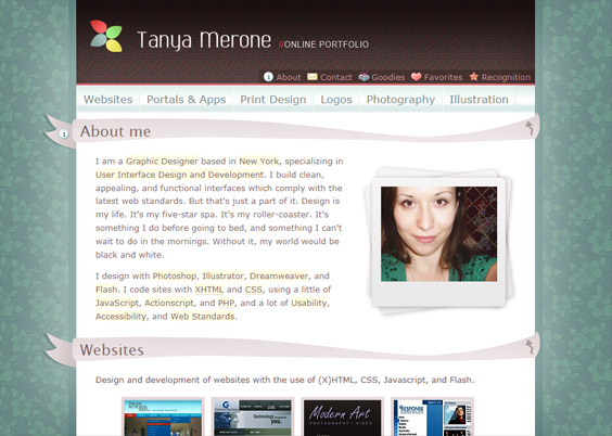 TanyaMerone Ribbons in Web Design: A Showcase