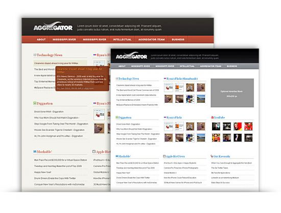 WordPress Aggregator theme