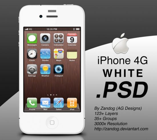 Iphone PSD files