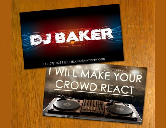 25 best djs business card designs web3mantra dj business card reheart