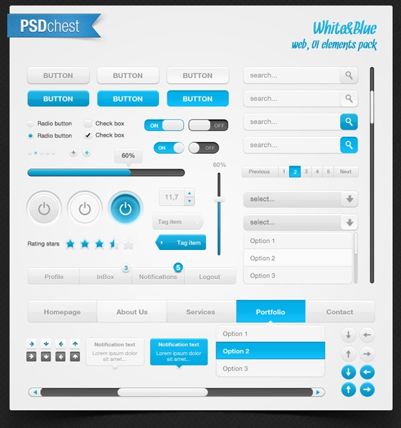 DBE2BFPUKTWD43_thumb 40+ PSD UI Kits for Web Designers