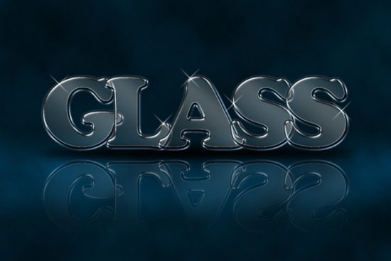 glass text effect