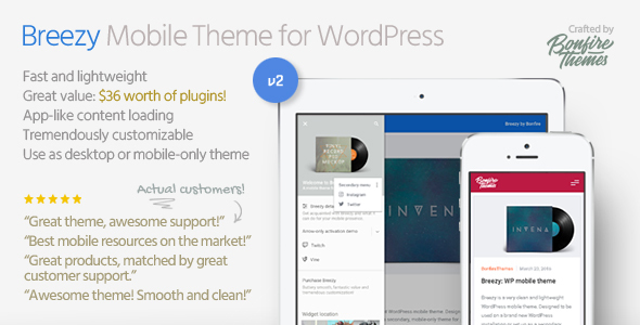 Breezy: Mobile Theme for WordPress