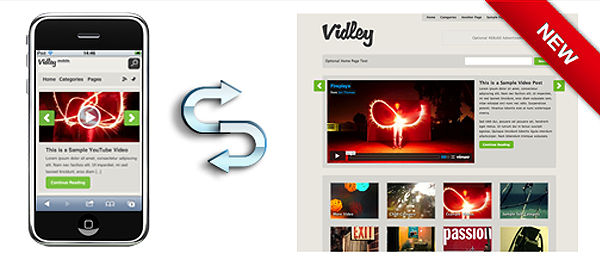 Best WordPress Vidley Mobile Theme