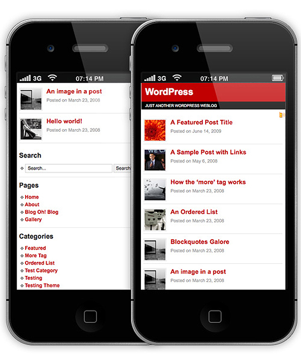Latest WordPress Mobile Theme