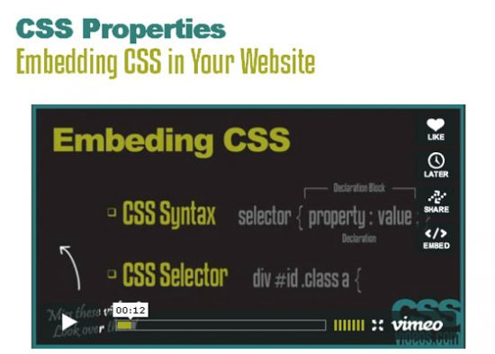 CSS Video Tutorials