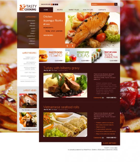 Food and Drink WordPress Themes