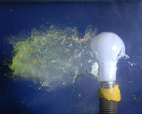 paintball-meets-light-bulb High-Speed Photography: 30 Fascinating Photography