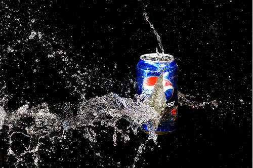Exploding Pepsi Can