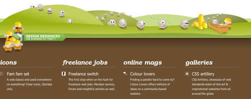 Creative Illustrated Website Footers