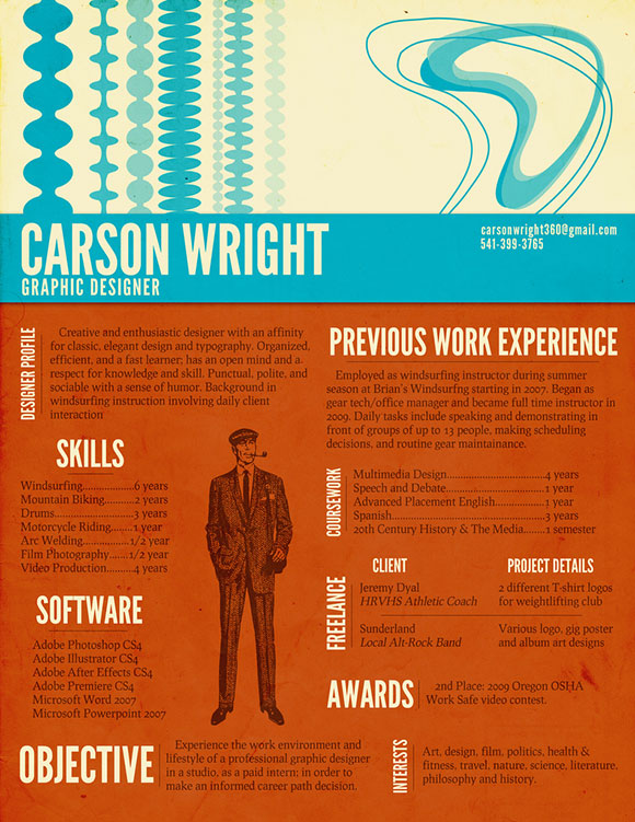 CarsonWright 40 Creatively Stunning and Eye-Catching Resumes