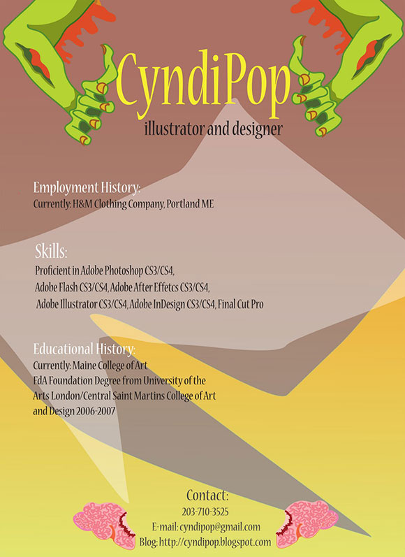 CyndiPop 40 Creatively Stunning and Eye-Catching Resumes