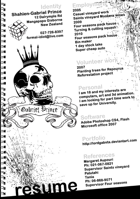 ShahienGabrielPrince 40 Creatively Stunning and Eye-Catching Resumes