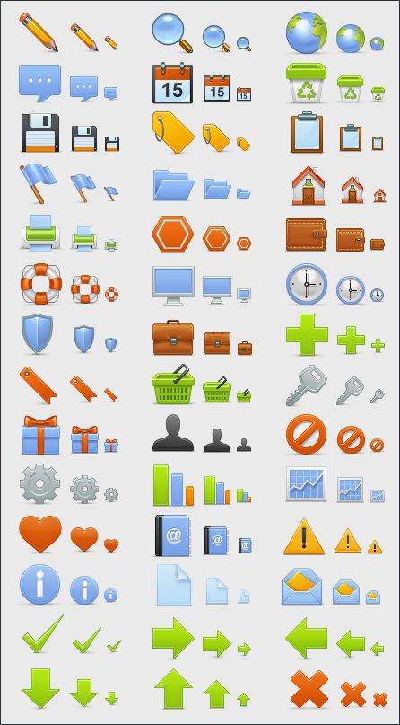 2 Sets of Basic Icons