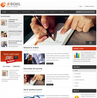 Fresh Joomla news templates