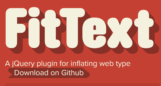 fittextjs 15+ Amazing jQuery Typography Plugins