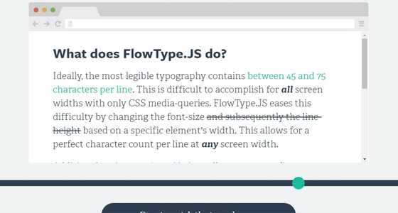 flowtype 15+ Amazing jQuery Typography Plugins