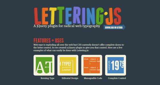 letteringjs 15+ Amazing jQuery Typography Plugins