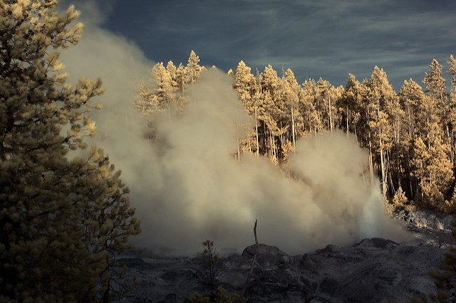 Infrared Landscape-Yellowstone