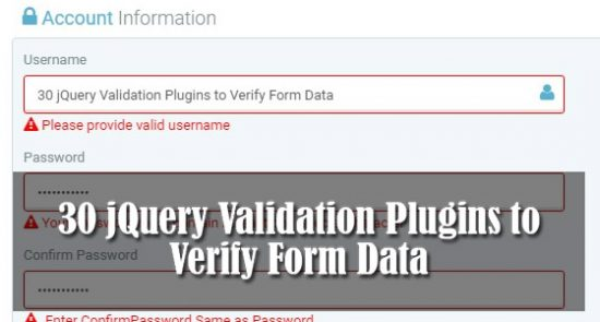 30 jQuery Validation Plugins to Verify Form Data - Web3mantra