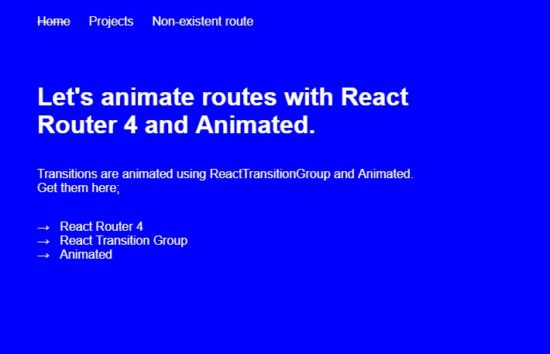 Animated transitions React