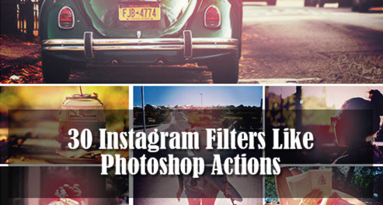 22 Popular Instagram Filter Photoshop Actions