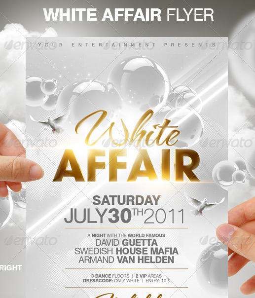 White Affair Party Flyer