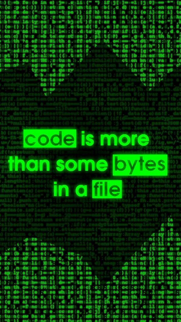 Code is More Than Some Bytes in a File