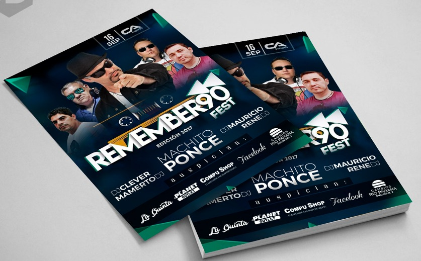 Flyer evento Remember