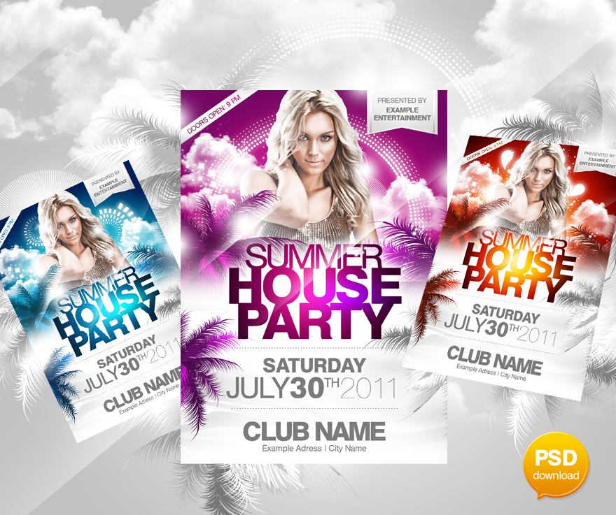 Summer House Flyer PSD