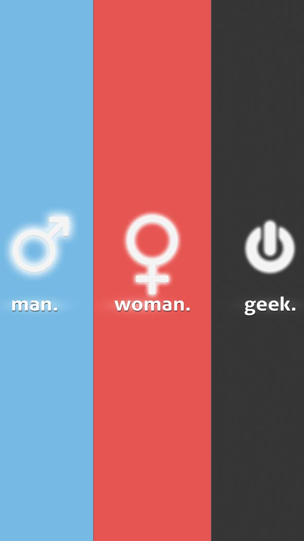 Woman Man Geek