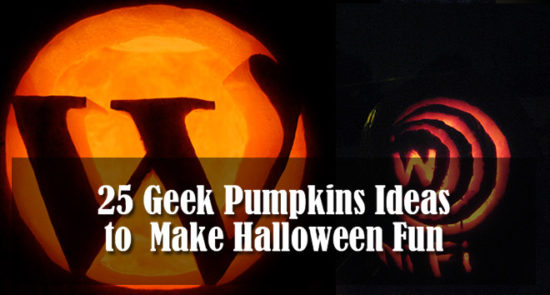 Apple and Star Trek Pumpkin Design