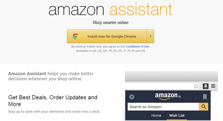 Amazon Assistant Page