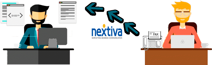 Nextiva online fax to email
