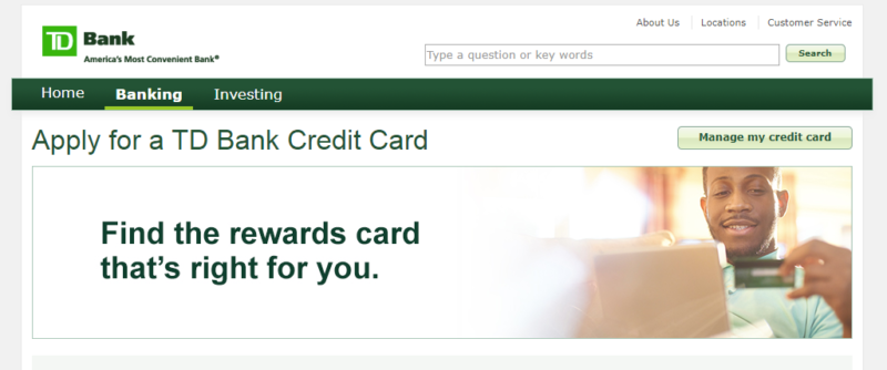 Apply for TD Credit Card