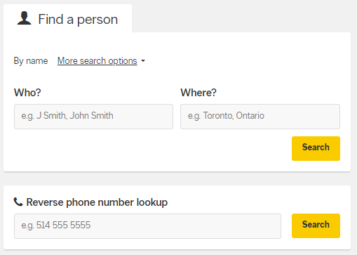 search for a person in canada
