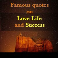 Famous Quotes On Success Life And Love Top Quotes On Love And Success