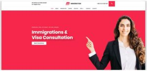 immigration website temlates