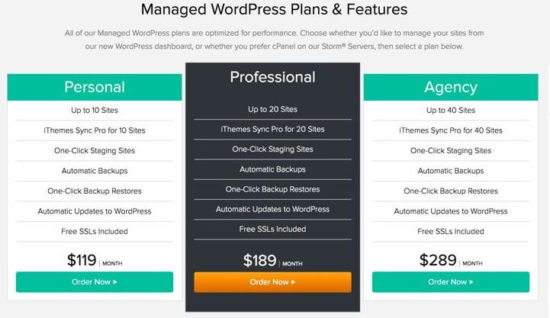 wordpress hosting plans
